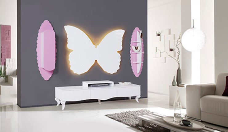Füme Mobilya – Kelebek Tv Pembe:  tarz Oturma Odası
