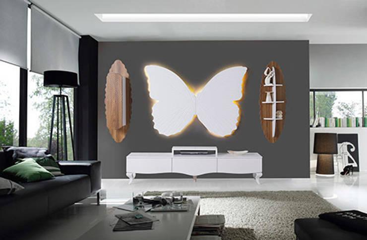 Füme Mobilya – Kelebek Tv Ceviz:  tarz Oturma Odası
