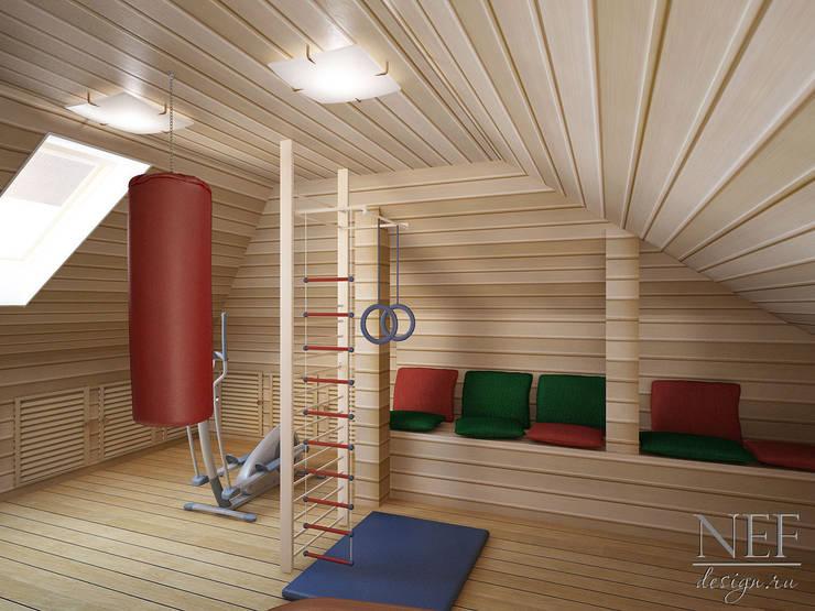 Коттедж: Тренажерные комнаты в . Автор – Юлия Паршихина