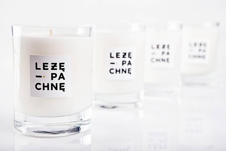 sojowe świece zapachowe (szklane): styl , w kategorii  zaprojektowany przez Leżę i Pachnę,Skandynawski