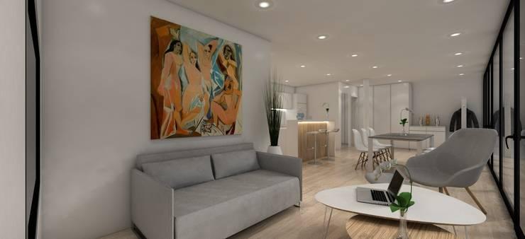 Salas de estilo moderno por LTG Lofts to go - coodo