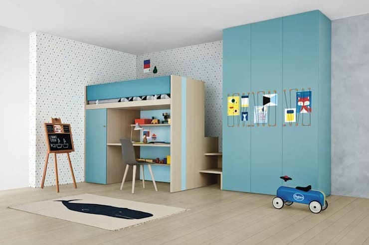 Children's Bedroom with Plenty of Storage:  Nursery/kid's room by Nubie Kids