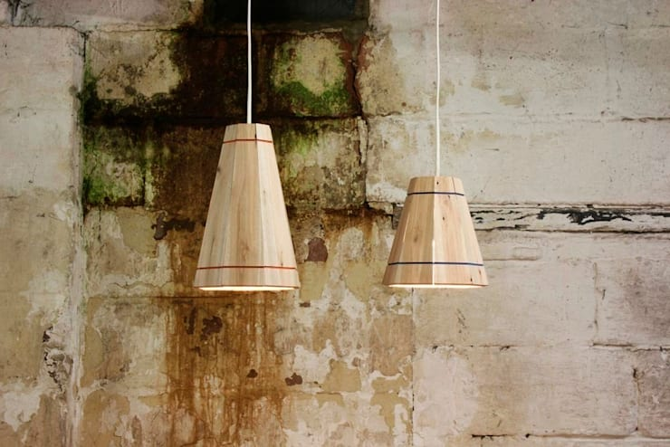 Pallet Pendant Shade:  Dining room by Factory Twenty One
