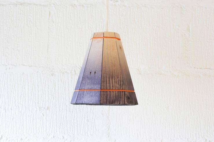 Pallet Pendant Shade: rustic Bedroom by Factory Twenty One