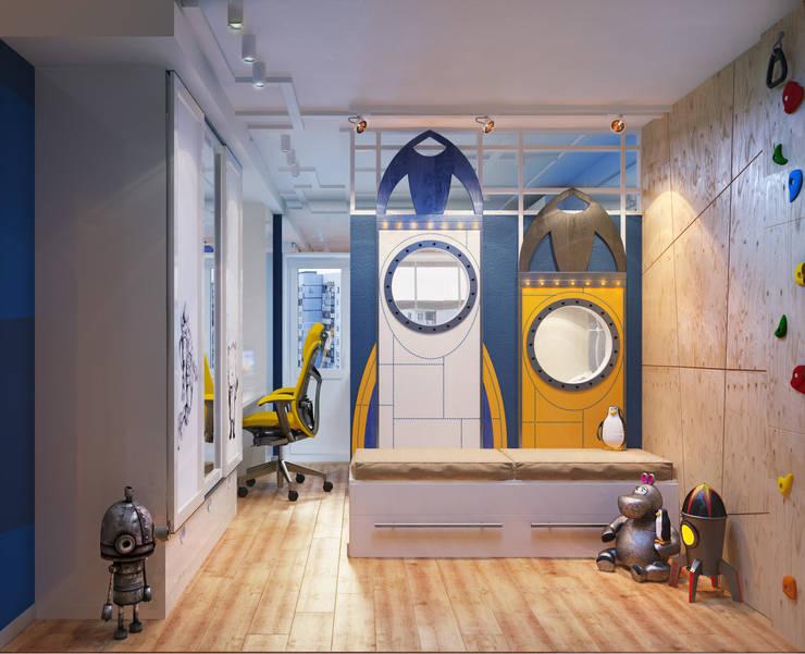 Проект детской комнаты двух мальчиков: Детские комнаты в . Автор – Katerina Butenko