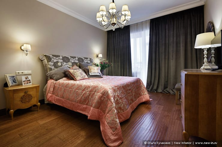 غرفة نوم تنفيذ Ольга Кулекина - New Interior