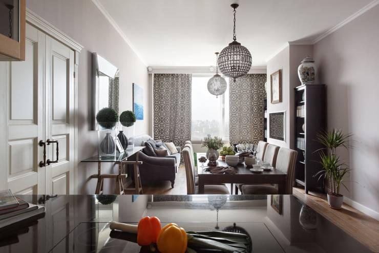 Идеальный фон (ЖК Авеню77) : Гостиная в . Автор – White & Black Design Studio