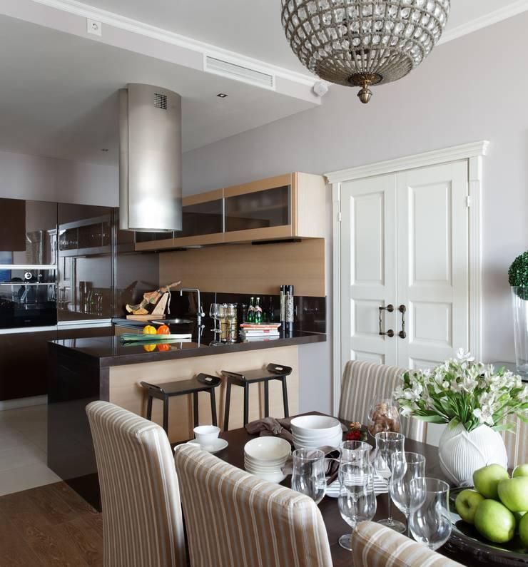 Идеальный фон (ЖК Авеню77) : Кухни в . Автор – White & Black Design Studio