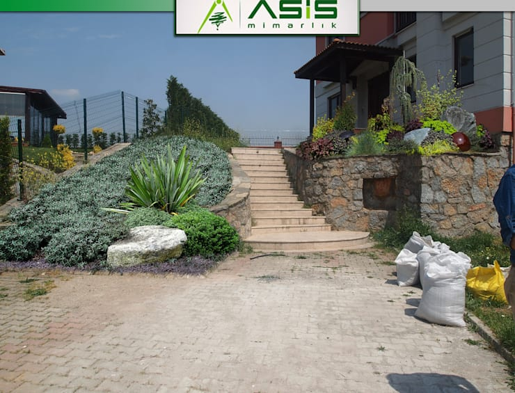 asis mimarlık peyzaj inşaat a.ş. – Sultan Konakları Villa Projesi Tasarımı Ve Uygulaması:  tarz Bahçe
