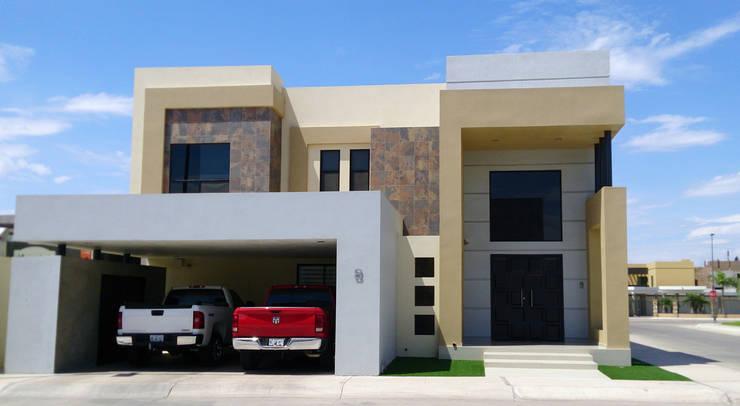 Vista Fachada principal: Casas de estilo  por Acrópolis Arquitectura