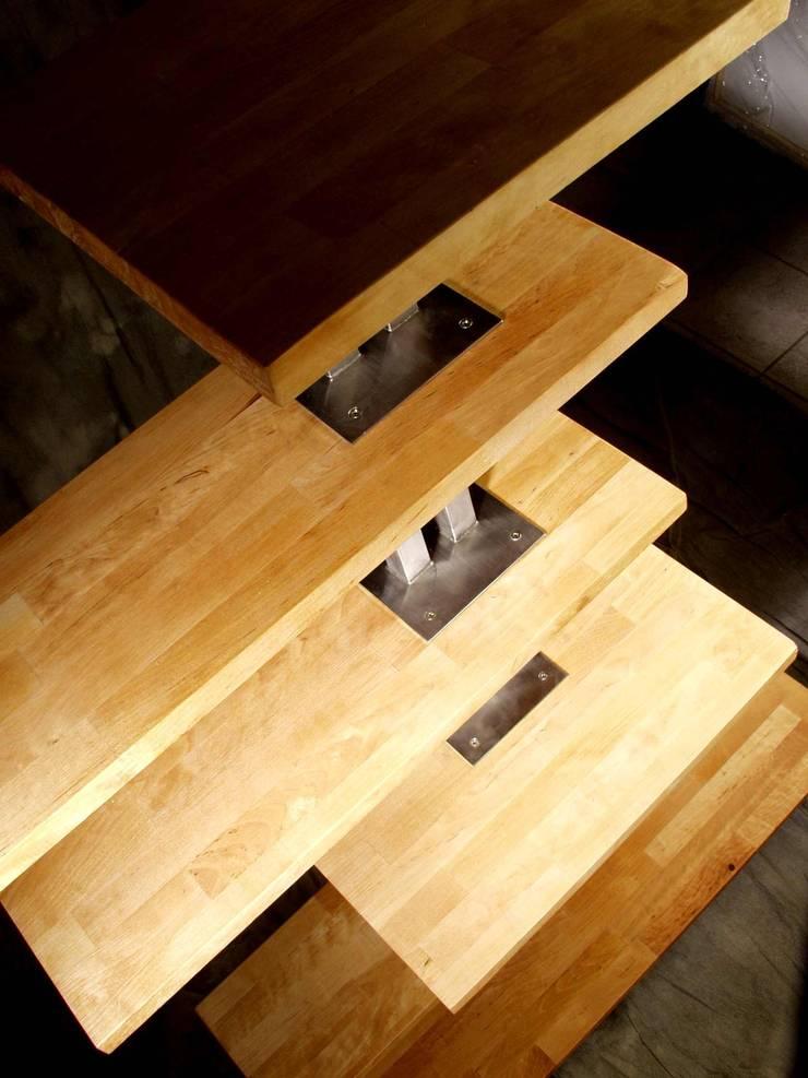 REGAŁ 11: styl , w kategorii Domowe biuro i gabinet zaprojektowany przez CHOLUJ DESIGN s.c.    / ROKKI design,