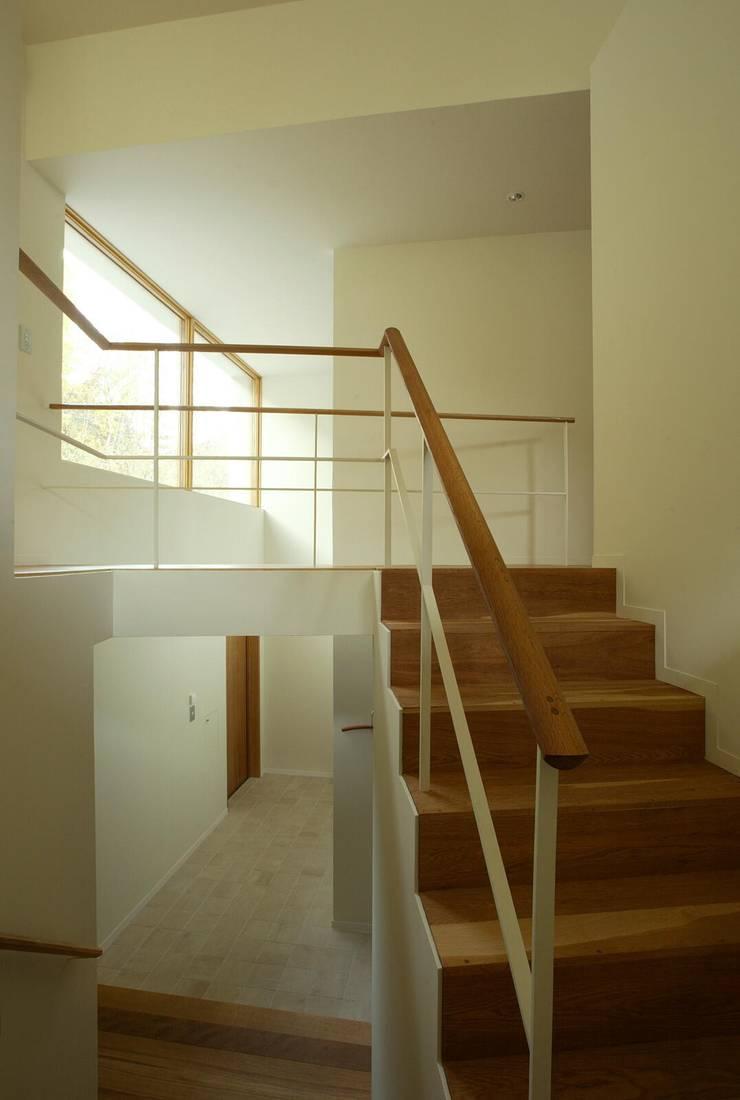 階段: キタウラ設計室が手掛けた廊下 & 玄関です。