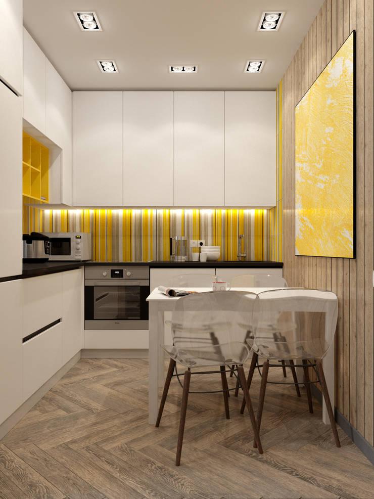 Однокомнатная квартира для студента в ЖК Эдальго: Кухни в . Автор – WOWROOM design studio
