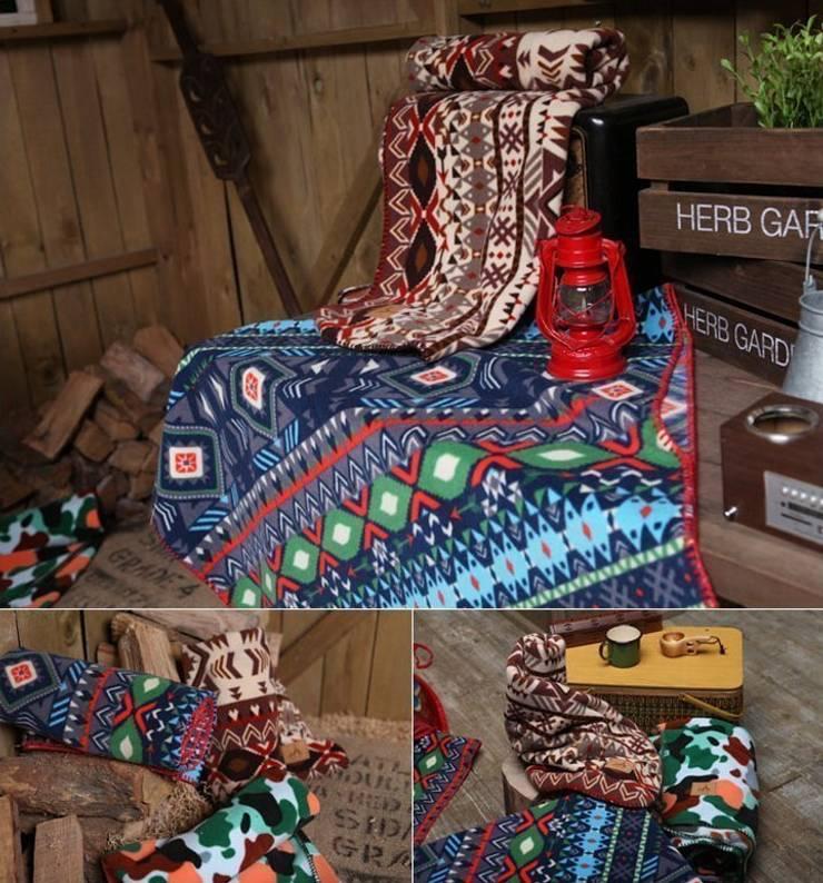 감성 포레스트 블랑켓: 캠핑플라의  침실