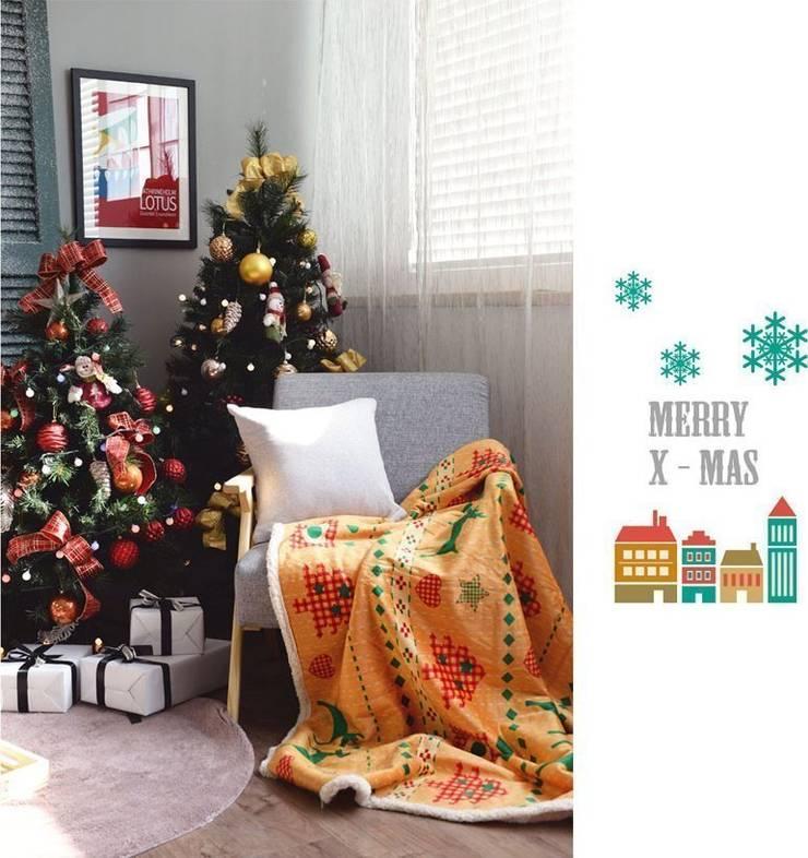 감성 담은 크리스마스 담요: 캠핑플라의  침실