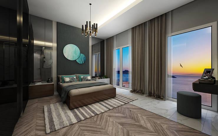 Voltaj Tasarım – ORANIO:  tarz Yatak Odası