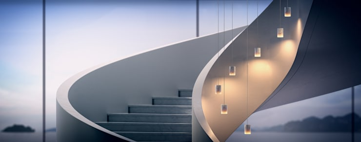 Projekty,  Korytarz, hol i schody zaprojektowane przez Terence Woodgate