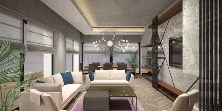 Voltaj Tasarım – ORANIO:  tarz Oturma Odası