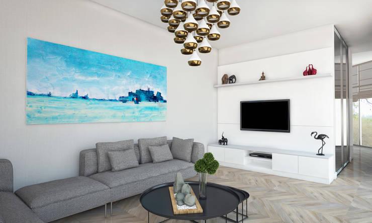 Voltaj Tasarım – AA EVİ:  tarz Oturma Odası