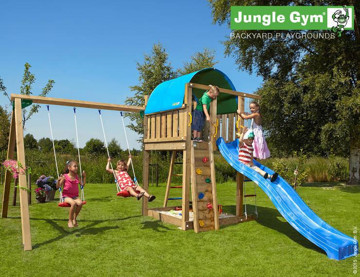 Jungle Gym Villa 2-Swing X'tra:  Tuin door Jungle Gym