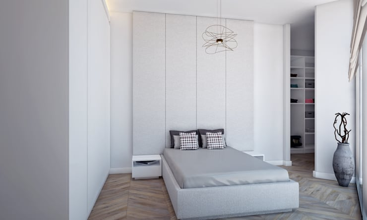 Voltaj Tasarım – AA EVİ:  tarz Yatak Odası