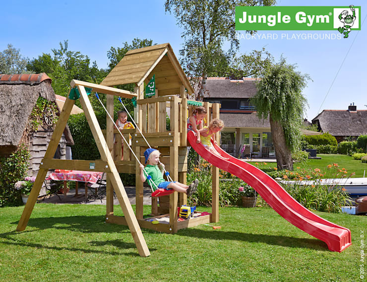Jungle Gym Cubby 1-Swing X'tra:  Tuin door Jungle Gym