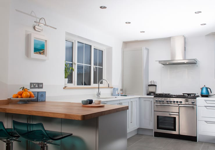 coastal art: modern Kitchen by Chalkhouse Interiors