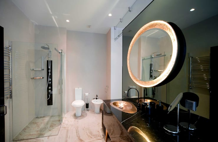 City Oasis – таунхаус в Куркино Nr.1: Ванные комнаты в . Автор – ODS Laboratory Architecture & Design