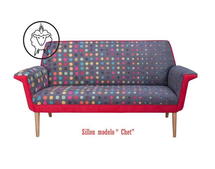 """Sillon """"Chet"""" : Livings de estilo  por CASA FAD"""
