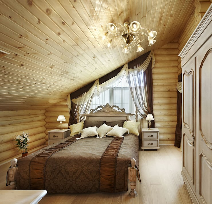 Спальня: Спальни в . Автор – Архитектурная студия 'Солнечный дом'