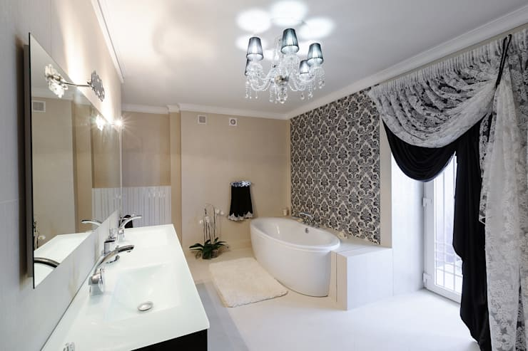 Projekty,  Łazienka zaprojektowane przez HOME Couture