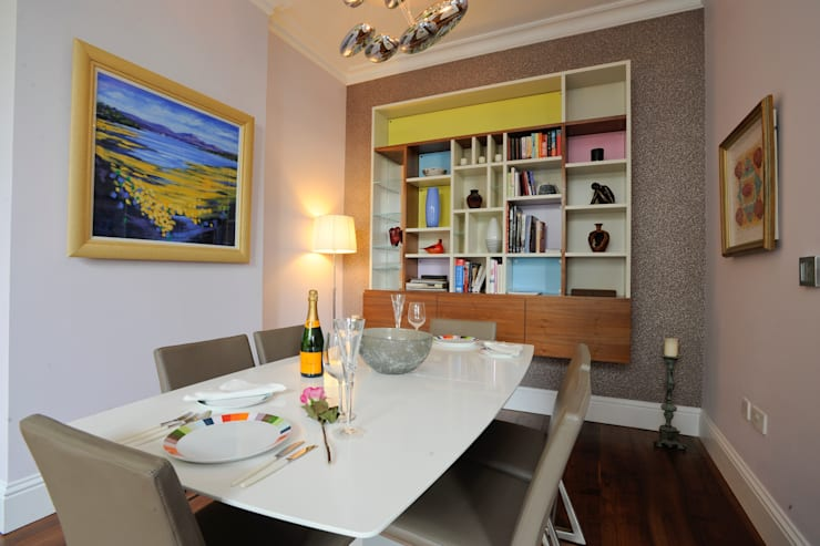 Dining area:  Dining room by NSI DESIGN LTD