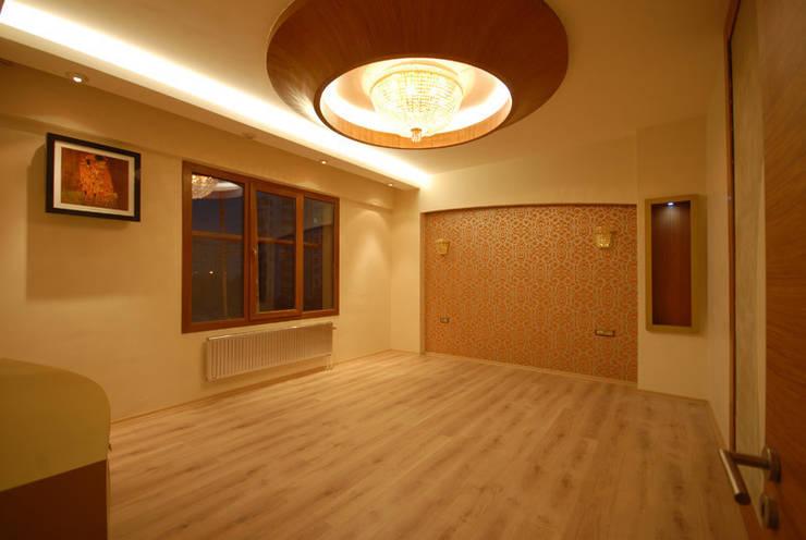 santimetre mimarlık – EYMEN RESİDENCE : modern tarz Yatak Odası