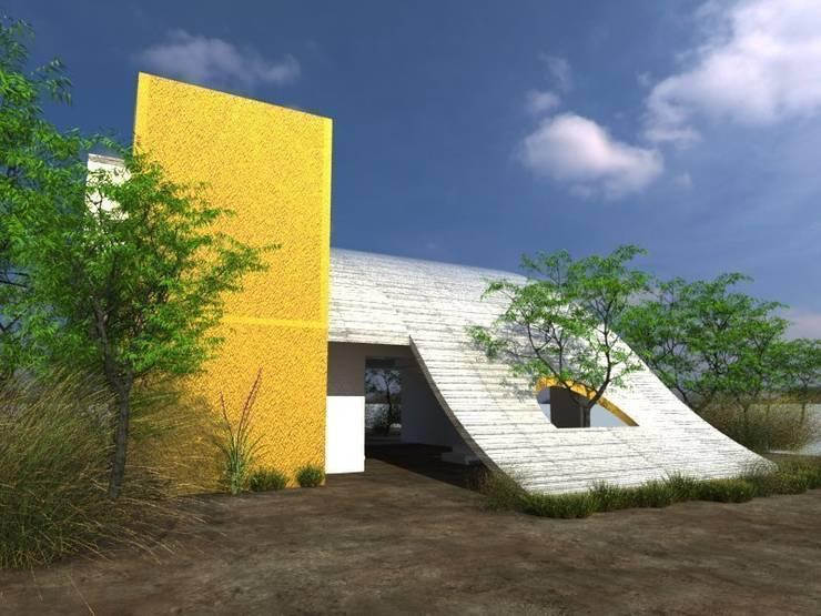 CASA DE CAMPO: Casas de estilo  por HEXSAL ARQUITECTOS