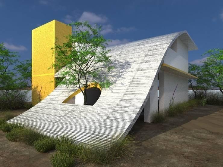 Casas de estilo  por HEXSAL ARQUITECTOS