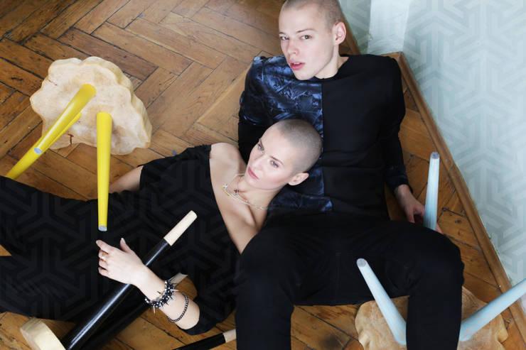 Stołki / Stoliki STILL WOOD -Yellow, Black, Mint: styl , w kategorii Salon zaprojektowany przez D2 Studio