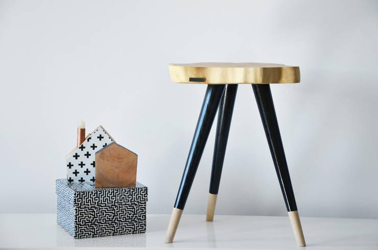 Stołki / Stoliki STILL WOOD -Yellow, Black, Mint: styl , w kategorii Pokój dziecięcy zaprojektowany przez D2 Studio