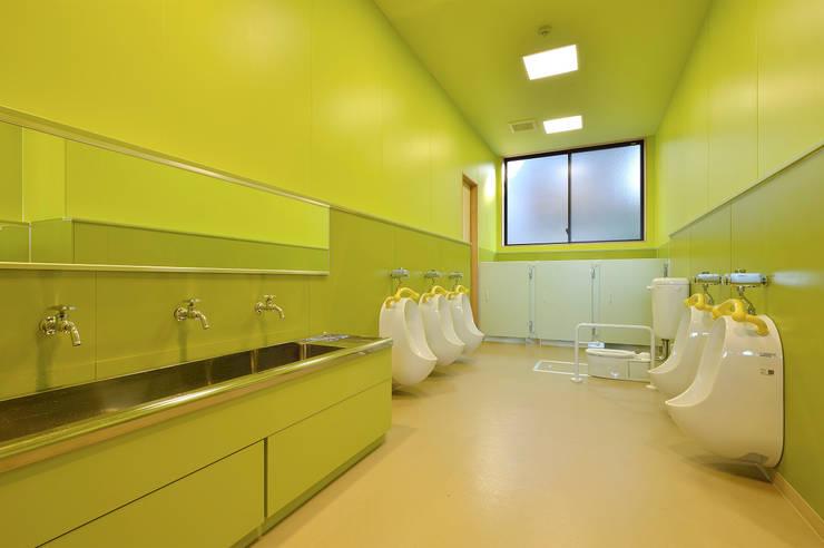 キッズトイレ アジア風学校 の ユニップデザイン株式会社 一級建築士事務所 和風