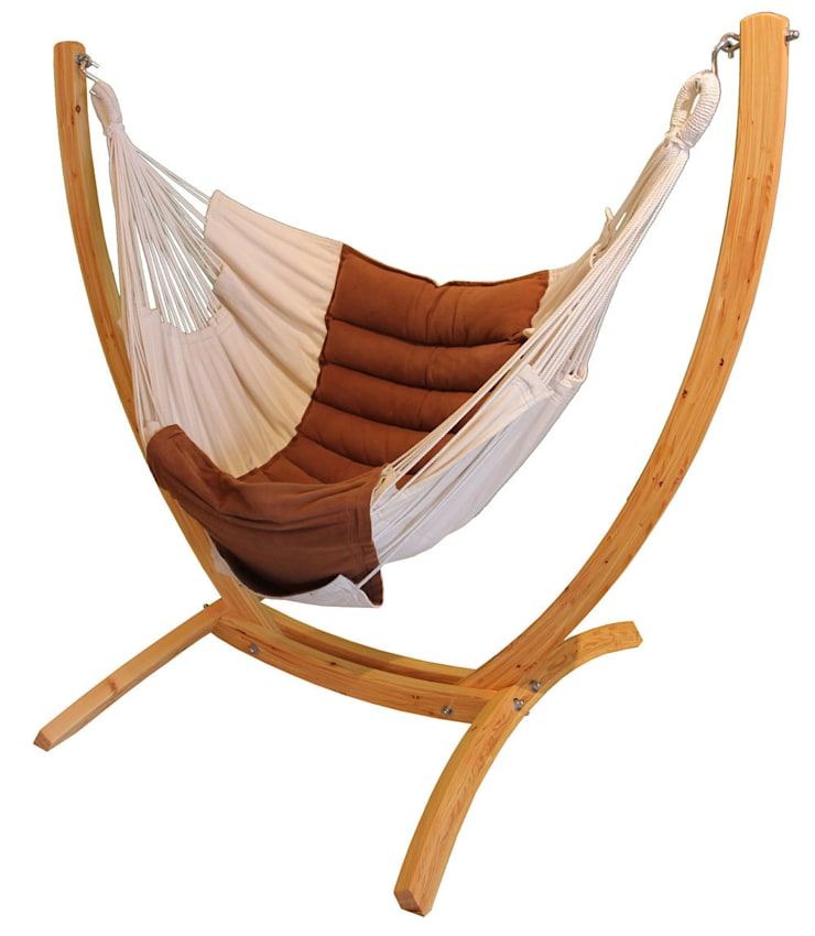 Wooden Arc Hanging Chair Stand:  Garden  by Maranon World of Hammocks