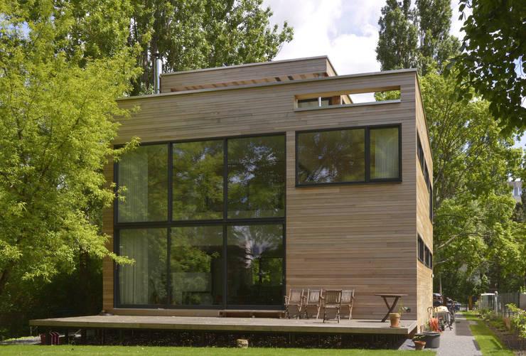 Gartenansicht: moderne Häuser von Helm Westhaus Architekten