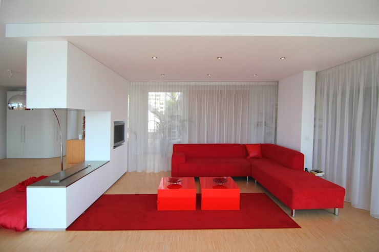Living room by PAA  Pattynama Ahaus Architectuur,