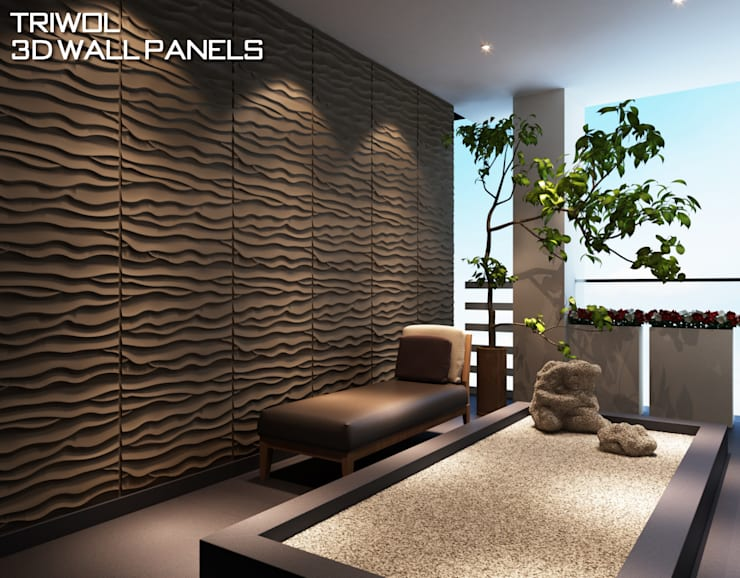 Group Enerji Yapı Dekorasyon – TRIWOL BEACH 3D DUVAR PANELİ:  tarz , Rustik