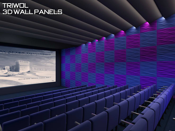 Group Enerji Yapı Dekorasyon – TRIWOL INREADA 3D DUVAR PANELİ:  tarz Duvarlar, Rustik