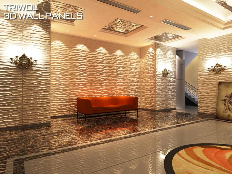 Group Enerji Yapı Dekorasyon – TRIWOL BEACH 3D DUVAR PANELİ:  tarz Duvarlar, Rustik