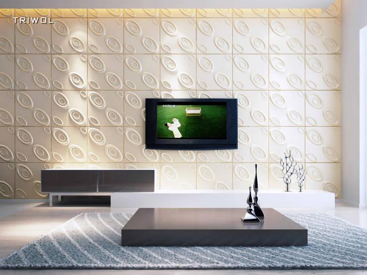 Group Enerji Yapı Dekorasyon – TRIWOL CURLUP 3D DUVAR PANELİ:  tarz Duvarlar, Rustik