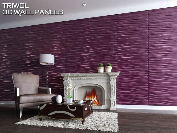 Group Enerji Yapı Dekorasyon – TRIWOL INREDA 3D DUVAR PANELİ:  tarz Duvarlar, Rustik