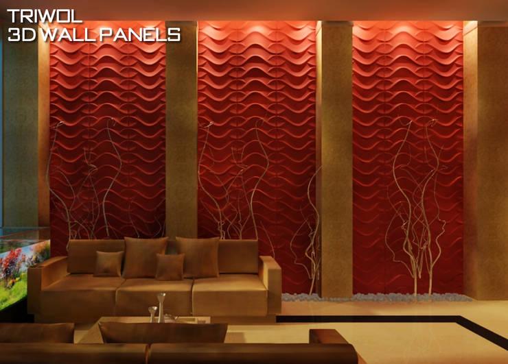 Group Enerji Yapı Dekorasyon – TRIWOL DRAGON 3D DUVAR PANELİ:  tarz Duvarlar, Rustik