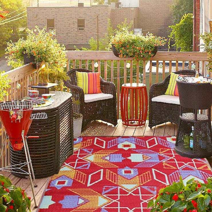 Balconies, verandas & terraces  تنفيذ Green Decore