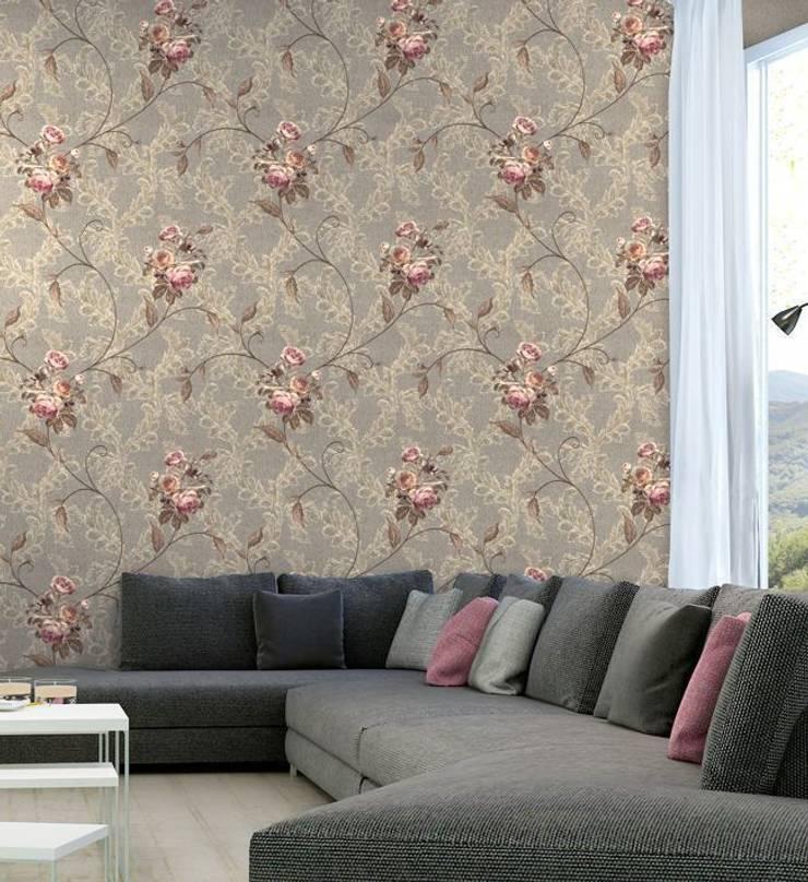 Pastel İç Mimarlık – Duvar Kağıtları:  tarz Duvar & Zemin