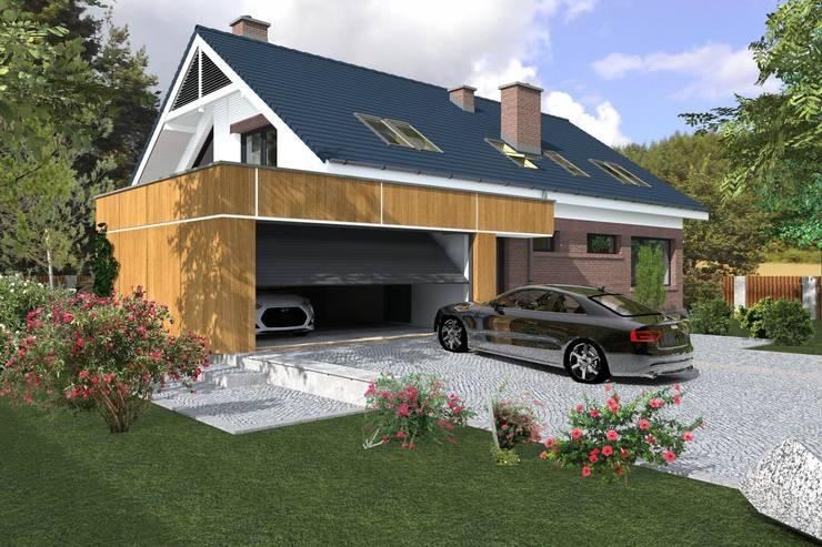 DZP-9 - dom energooszczędny i pasywny: styl , w kategorii Domy zaprojektowany przez ABC Pracownia Projektowa Bożena Nosiła - 1